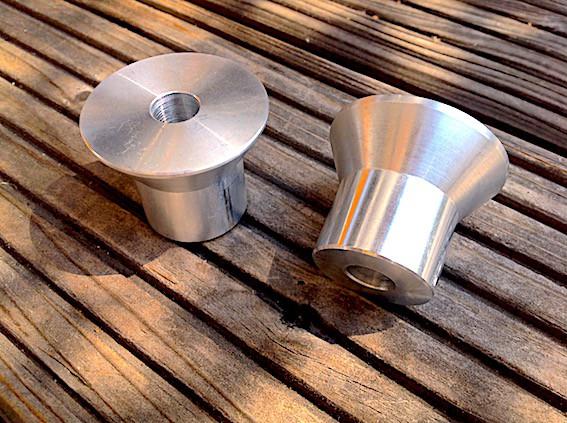 Aufnahme Lenker Klemmbock Alu konisch für BMW K 1100 Modelle mit 41,7 mm Standrohr-Durchmesser