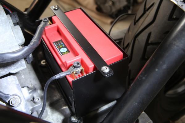 Batteriekasten Edelstahl für BMW K 75, K 100, K 1100 für leichte Lithium-Ionen-Batterie