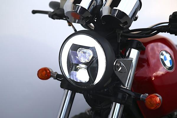 LED-Scheinwerfer »British-Style« 7-Zoll mit Tagfahrlicht und Kurvenlicht