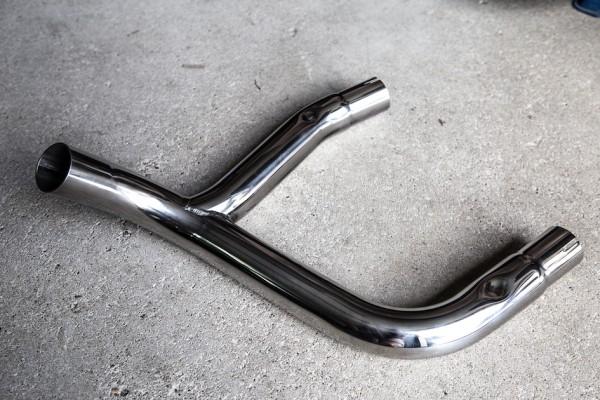 Y-Rohr Sammler Edelstahl für BMW R 80 GS und R 100 GS