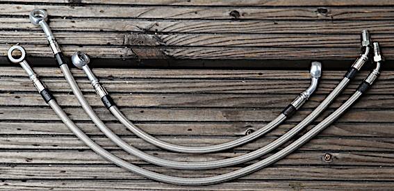 Bremsleitungs-Kit Stahlflex 3-teilig für BMW R 45 und R 65