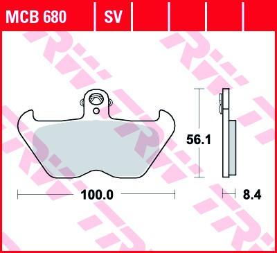 Bremsbeläge Satz für BMW R 80/100 R, K 100 RS, K 1100, K 1