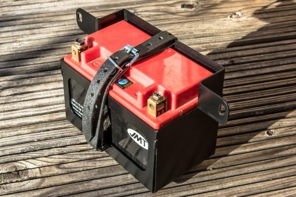 Batteriekasten »Mid« für BMW R 45 und R 65 VA-schwarzmatt und leichte Lithium-Ionen-Batterie