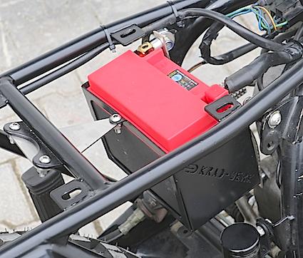 Batteriekasten Edelstahl BMW Monolever für leichte Lithium-Ionen Batterie