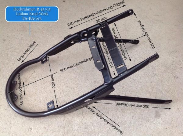 Heckrahmen BMW R 45/65 Original Umbau vom Krad-Werk