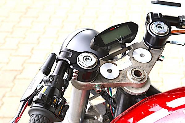 Tachohalter Koso Edelstahl schwarzmatt für BMW K 75, K 100 und K 1100 Modelle