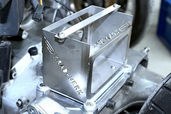 Batteriekasten Edelstahl BMW K 75, K 100, K 1100 für leichte Lithium-Ionen-Batterie