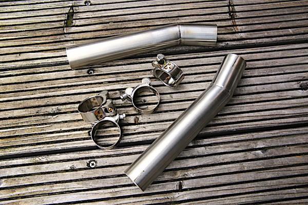 Auspuff-Krümmer-Adapter Set für BMW R 45 und R 65 z.B. passend für Endschalldämpfer »Ironhead«